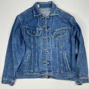 VTG Lee Denim Jean Trucker Jacket Small